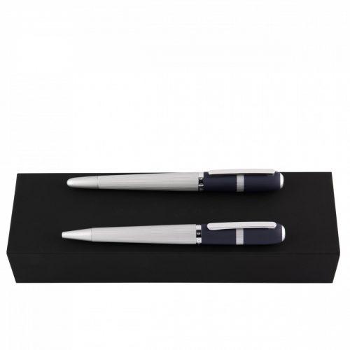 Hugo Boss Contour Navy Ballpoint Pen/Rollerball Pen Set